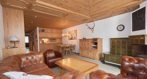 Ferienwohnung Laax - Wohnzimmer